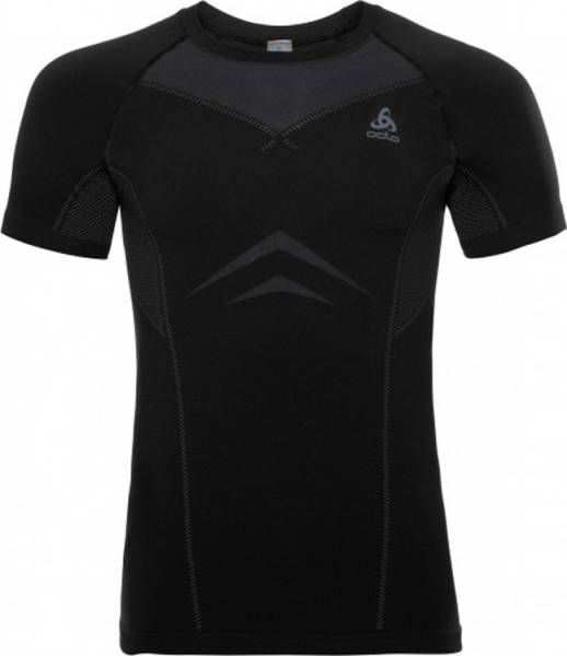 Odlo Performance Light Suw Top Crew neck s/s Men black-odlo graphite grey