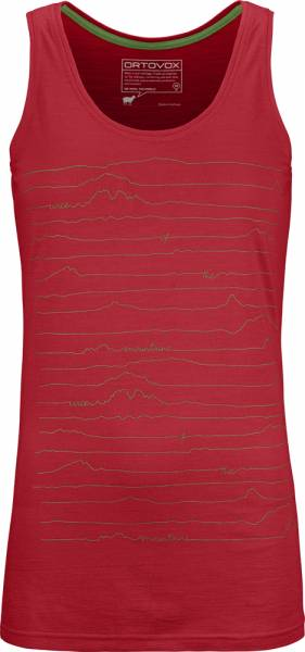 Ortovox 150 Cool Voice Tank Top Women hot coral Funktionstop