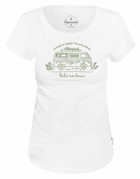 Alprausch Bring mi hei Damen T-Shirt white