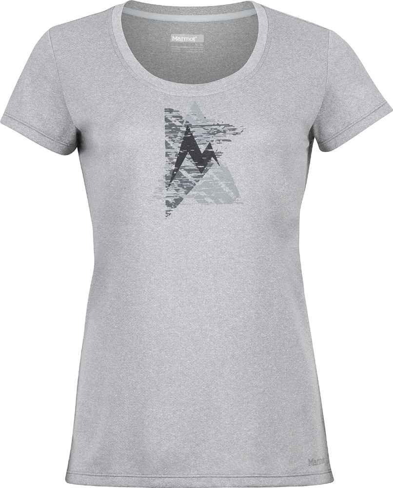 Marmot Post Time Tee Women grey storm T-Shirt | Funktionsshirts ...