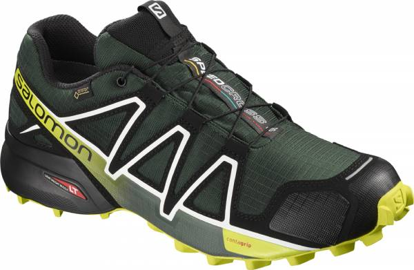 Salomon Speedcross 4 GTX Men darkest spruceblackacid lime