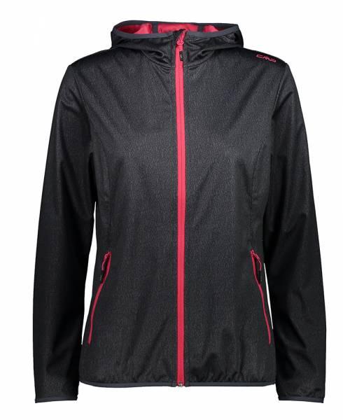 CMP Fix Hood Jacket Damen Softshelljacke asphalt-nero (31A5456)