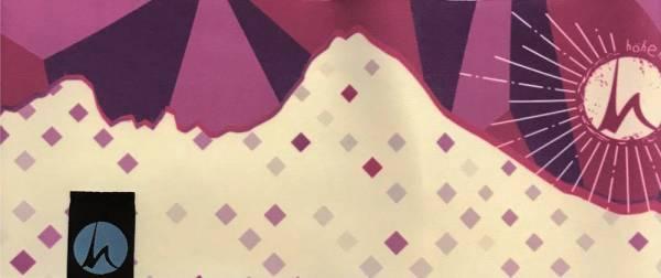 Höhenrausch Watzmann Pink Karo Fleece Stirnband