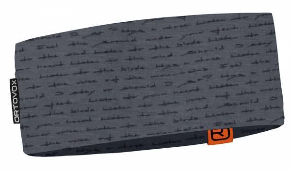 Ortovox 120 Tec Print Headband Unisex Stirnband black steel