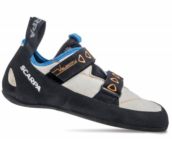Scarpa Velocity lightgray-royal blue Kletterschuh