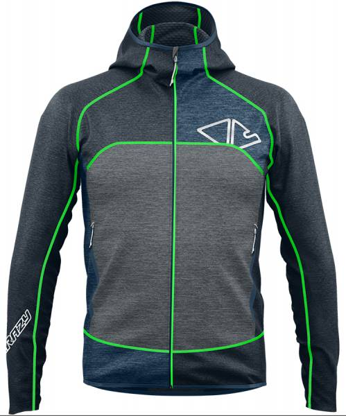 Crazy Idea Pull Resolution Herren Midlayer green fluo