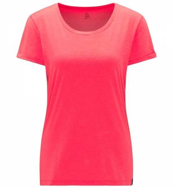 Haglöfs Ridge Hike Tee Women T-Shirt hibiscus red