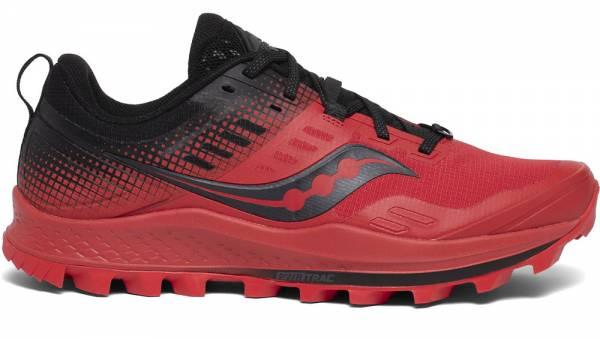 Saucony Peregrine 10 ST Herren Winter-Trailrunningschuh red/black