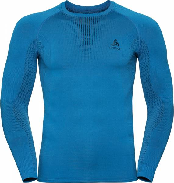 Odlo Performance Warm Men Funktionsunterwäsche Langarm-Shirt directoire blue-black