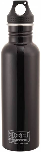 360 Degrees Stainless Drink Bottle 750ml Trinkflasche black