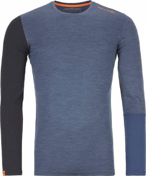 Ortovox 185 Rock´n´Wool Long Sleeve Men Shirt night blue blend