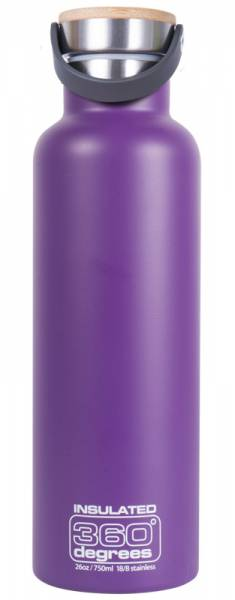 360 Degrees Vacuum Insulated 750ml Isolierflasche purple