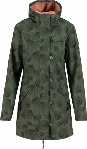 Blutsgeschwister Wild Weather Long Anorak Damen Softshell-Parka whispering leaves