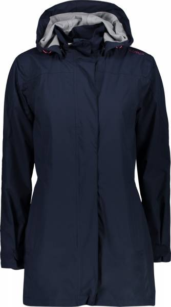 CMP Woman Rain Jacket Button Hood black blue (39X6646)
