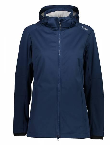 CMP Zip Hood Jacket Damen Softshelljacke blue-stone (39A5096)