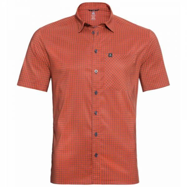 Odlo Nikko Check Shirt S/S Men Hemd mandarin red