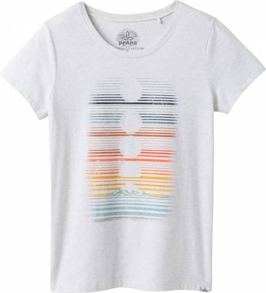 Prana Graphic Tee Women T-Shirt white dusk