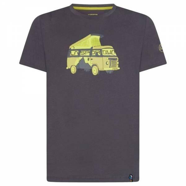 La Sportiva Van 2.0 T-Shirt Men carbon/kiwi