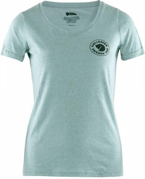 Fjällräven Logo T-Shirt Women clay blue-melange