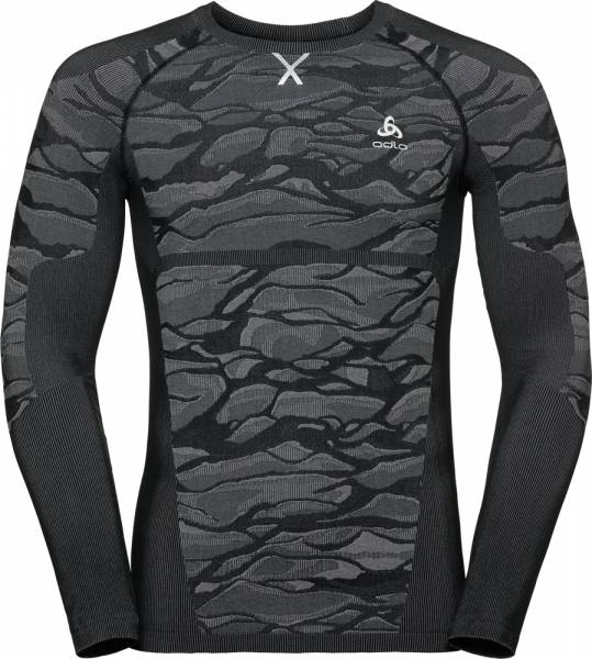 Odlo Blackcomb Men Funktionsunterwäsche Langarm-Shirt black-odlo steel grey-silver