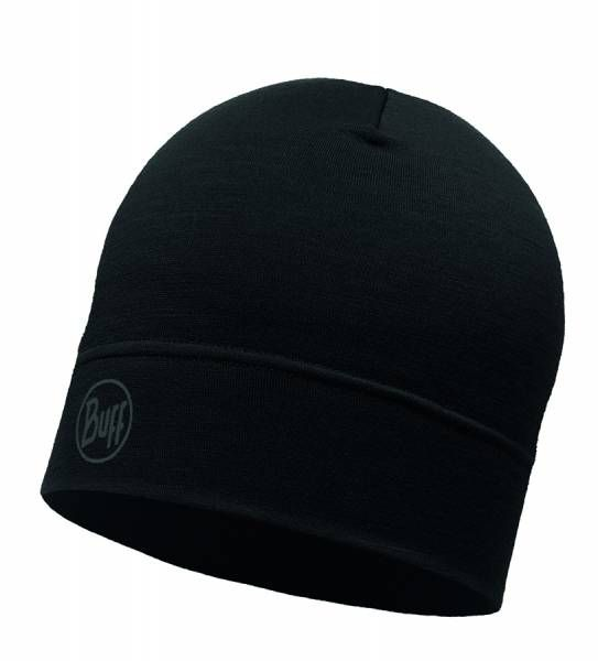BUFF® Lightweight Merino Wool Hat Mütze solid black