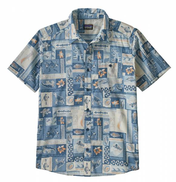 Patagonia M's Go To Shirt Herren Kurzarm-Hemd hawthorne blue
