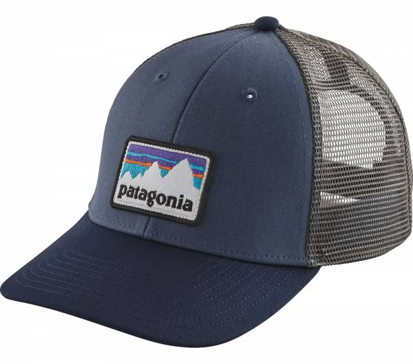 Patagonia Shop Sticker Patch LoPro Trucker Hat Cap dolomite blue
