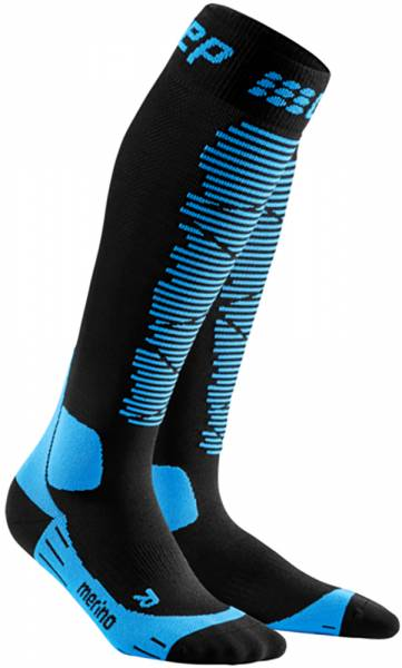 CEP Ski Merino Compression Socks Women Skisocken black/blue
