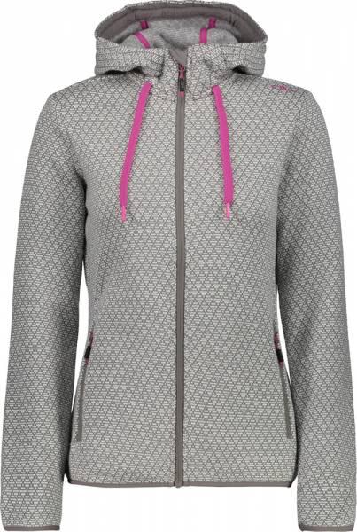CMP Woman Jacket Fix Hood tortora-bianco (39H7946)