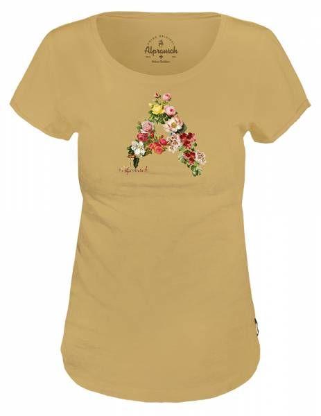 Alprausch Blüemli Julia Damen T-Shirt fall leaf fancy mel