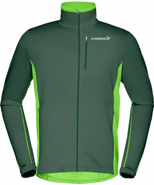 Norrona Bitihorn Warm1 Stretch Jacket Men Midlayer Bamboo Green