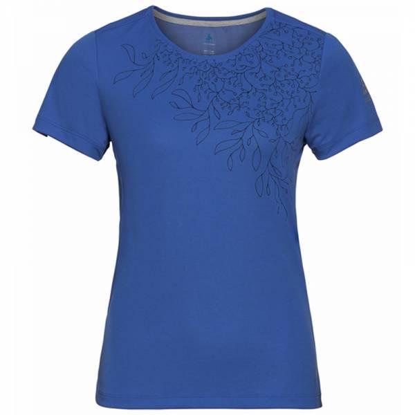 Odlo F-Dry Print T-Shirt S/S Crew Neck Women amparo blue