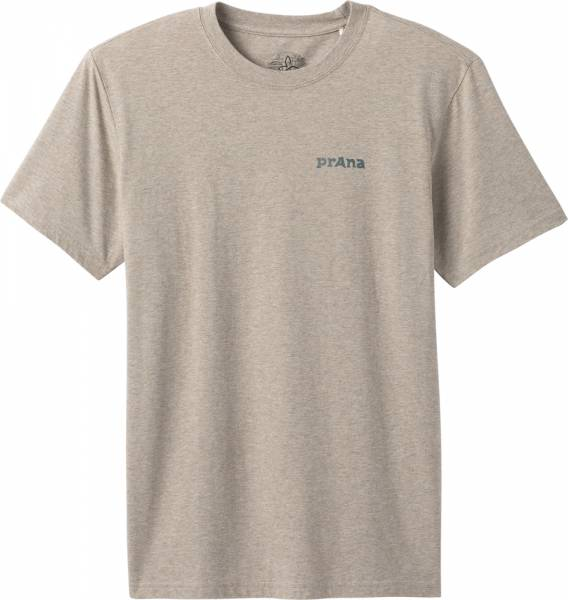 Prana Trail Elements Men T-Shirt dark khaki heather