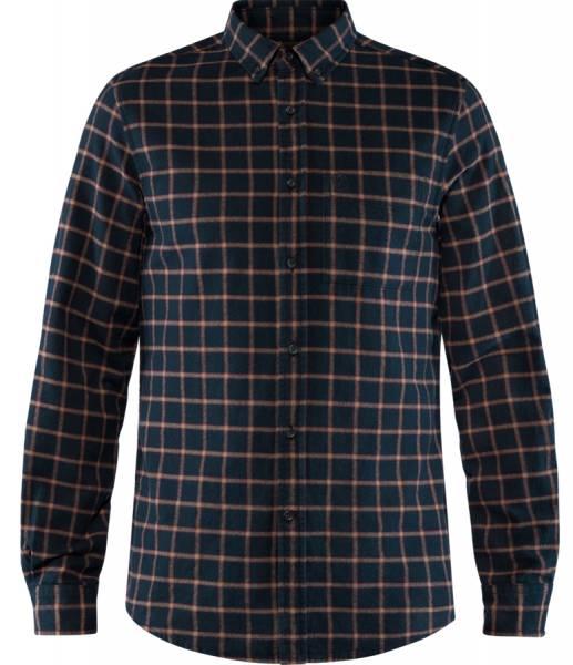 Fjällräven Övik Flannel Shirt Herren Flanell-Hemd dark navy
