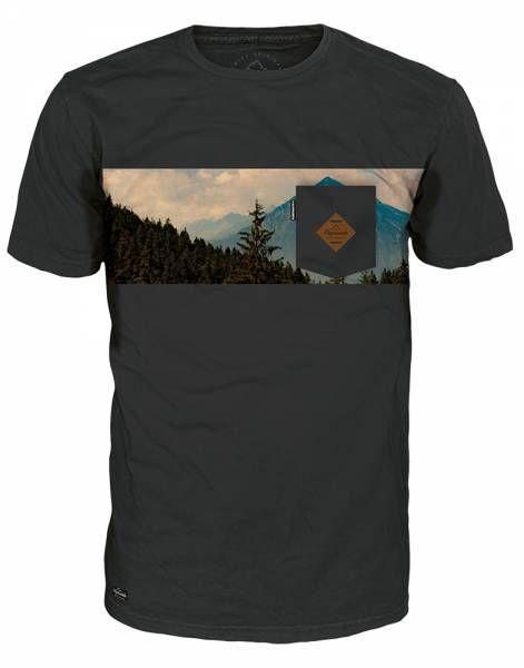 Alprausch Alp-Panorama Teeshirt Herren T-Shirt dark shadow