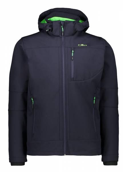 CMP Jacket Zip Hood Herren Softshelljacke b.blue-verde fluo (3A01787N)