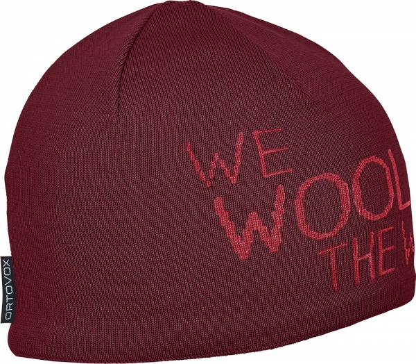 Ortovox We Wool The World Beanie Mütze dark blood