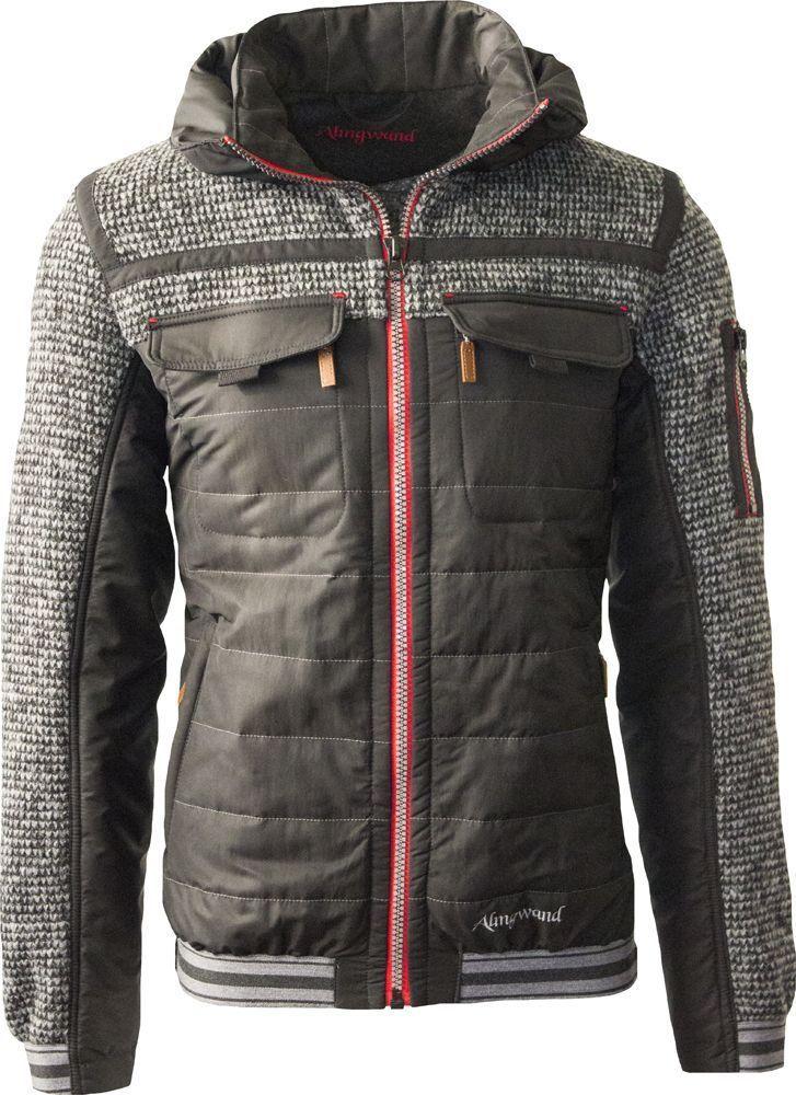online retailer 98895 9b312 Almgwand Herren Jacke Aberg braun/grau