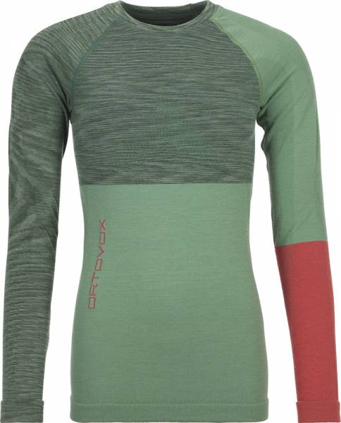 Ortovox 230 Competition Long Sleeve Women Shirt green isar blend