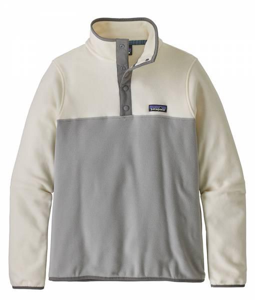 Patagonia W´s Micro D™ Snap-T® Damen Fleece-Pullover drifter grey w/white wash
