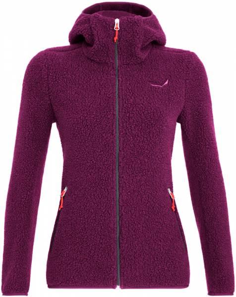 Salewa Fanes Shearling Wool Women Jacket Jacke dark purple