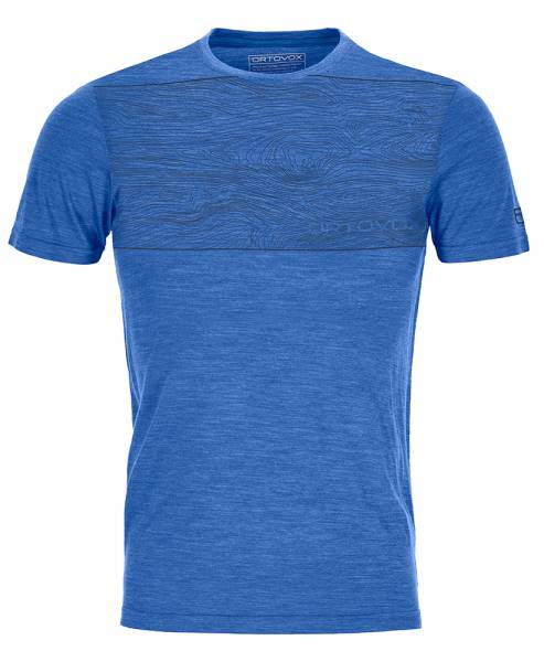 Ortovox 120 Cool Tec Wood TS Herren T-Shirt just blue blend