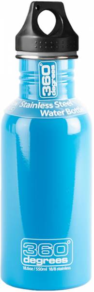360 Degrees Stainless Drink Bottle 750ml Trinkflasche Skyblue