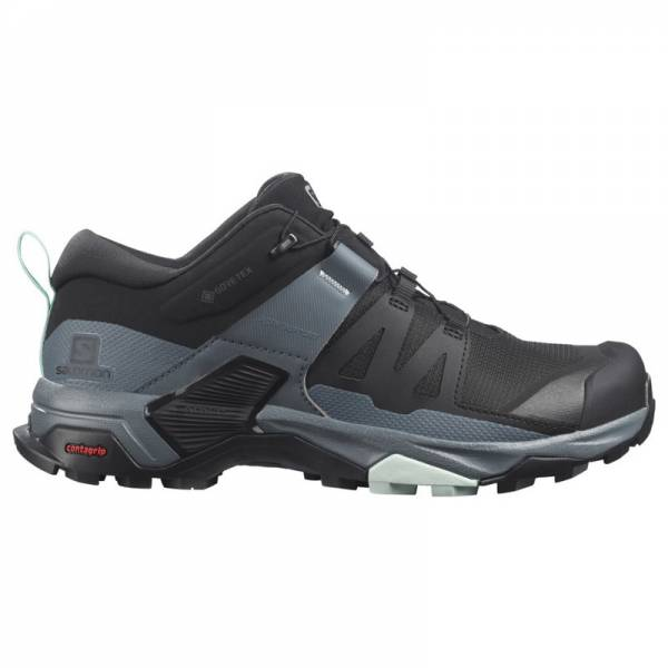Salomon X Ultra 4 GTX Damen Wanderschuh black/stormy weather/opal blue