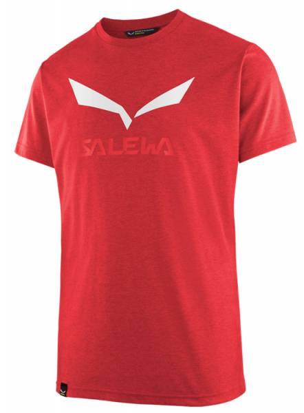 Salewa Solodlogo Dri-Release S/S Tee Men Shirt bergrot melange