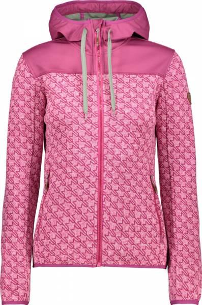 CMP Fix Hood Jacket Women hot pink-bianco