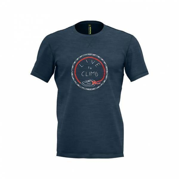 Crazy Idea Live to Climb T-Shirt Men blue