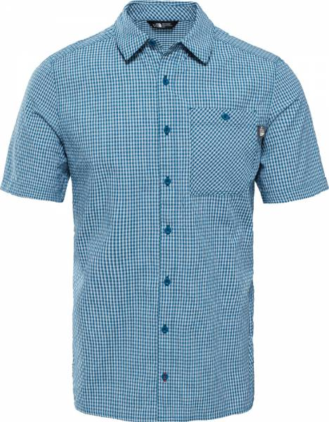 The North Face S/S Hypress Shirt Men Kurzarmhemd blue coral plaid