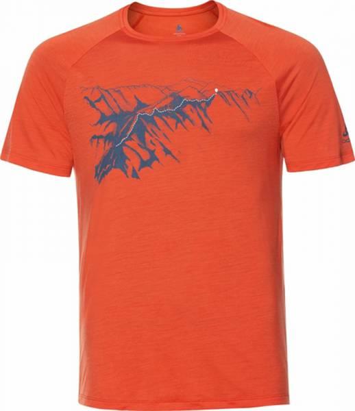 Odlo Concord T-Shirt S/S Crew Neck Men mandarin red