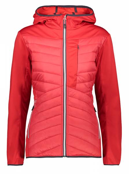 CMP Jacket Fix Hood Damen Softshelljacke blood (30A1506)